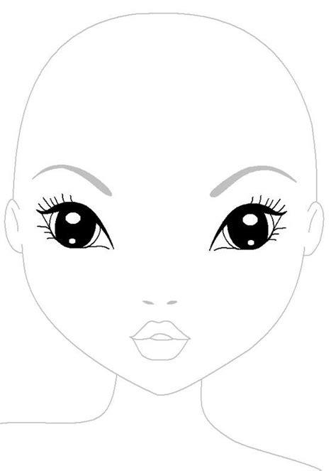 Ausmalbilder Topmodel Gesicht