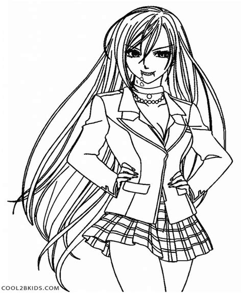 Ausmalbilder Vampir Mädchen