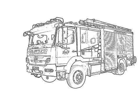 Ausmalbilder Von Feuerwehr