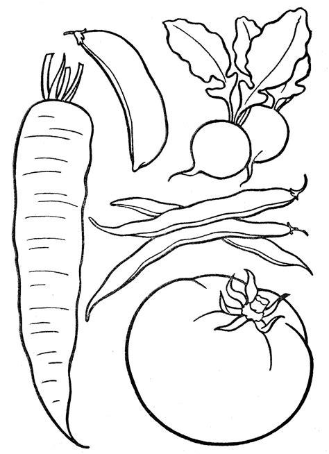 Ausmalbilder Von Gemüse