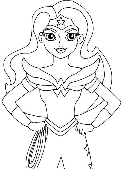 Ausmalbilder Weibliche Superhelden