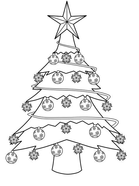 Ausmalbilder Weihnachten Baum