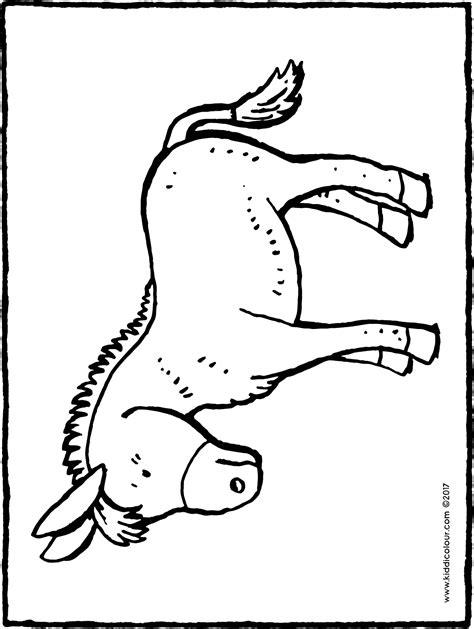 Ausmalbilder Weihnachten Esel