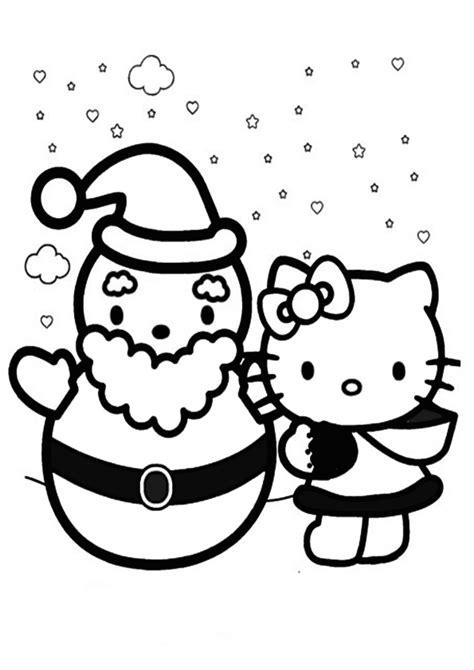 Ausmalbilder Weihnachten Hello Kitty
