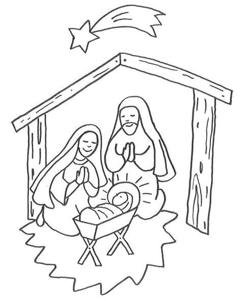 Ausmalbilder Weihnachten Jesu Geburt