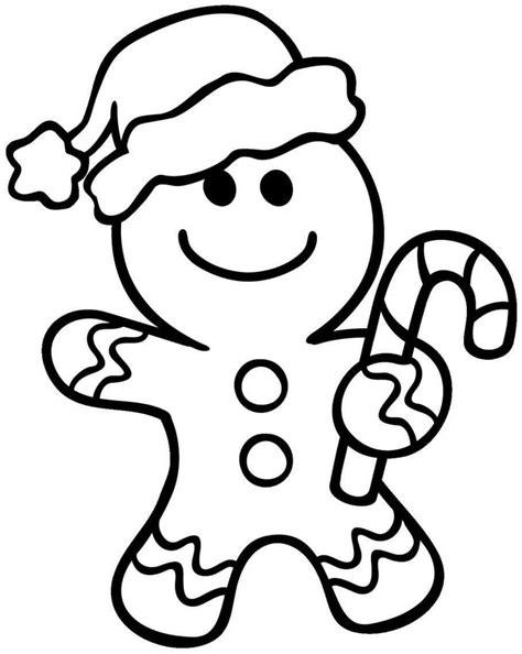Ausmalbilder Weihnachten Lebkuchenmann