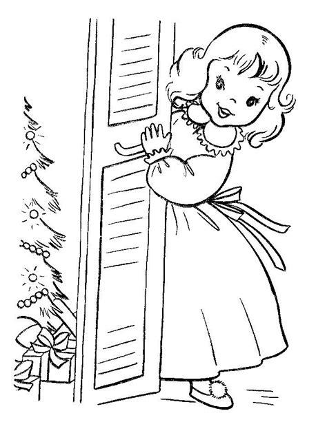 Ausmalbilder Weihnachten Mädchen