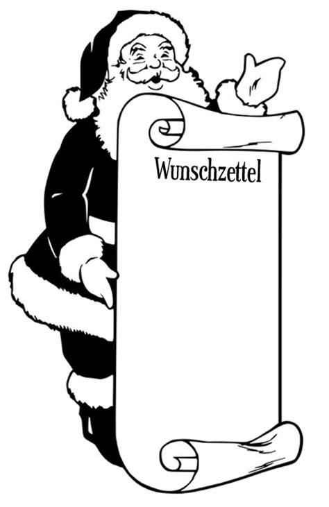 Ausmalbilder Weihnachten Wunschzettel