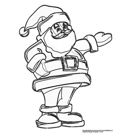 Ausmalbilder Weihnachtsmann Gratis