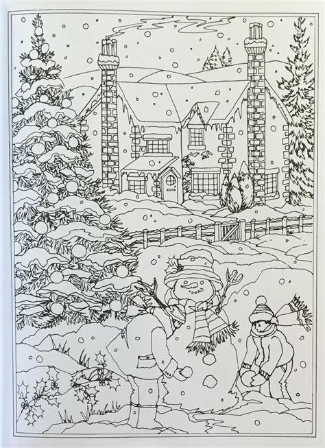 Ausmalbilder Winterlandschaft Erwachsene