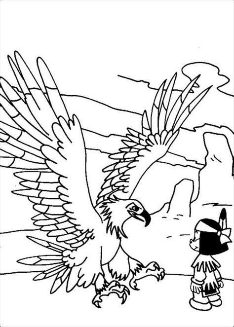 Ausmalbilder Yakari Großer Adler