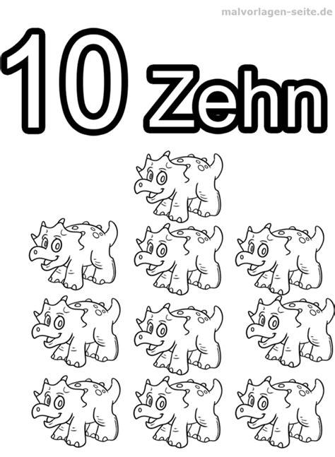 Ausmalbilder Zahlen Bis 10