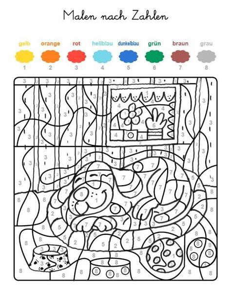 Ausmalbilder Zahlen Farben