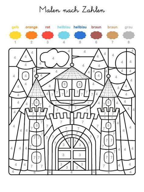 Ausmalbilder Zahlen Und Farben