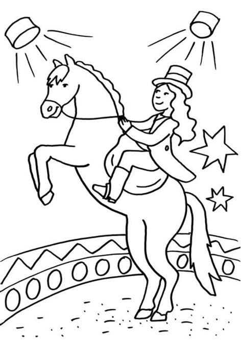 Ausmalbilder Zirkuspferd