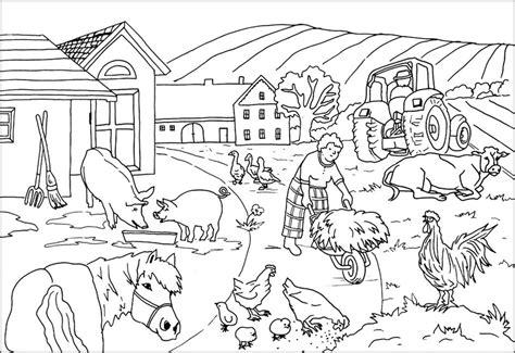 Ausmalbilder Zu Bauernhof