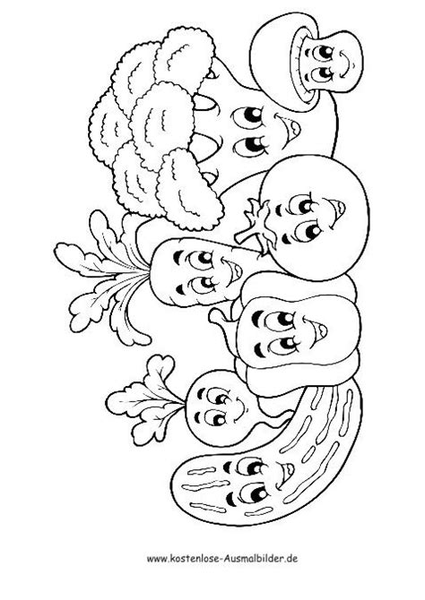 Ausmalbilder Zum Ausdrucken Kostenlos Gemüse