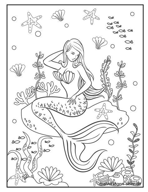 Ausmalbilder Zum Ausdrucken Meerjungfrau