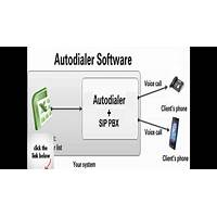 Auto dialer software with 2 voip phone lines immediately