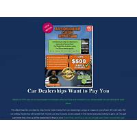 Automobile cash streams work at home income from car dealerships step by step