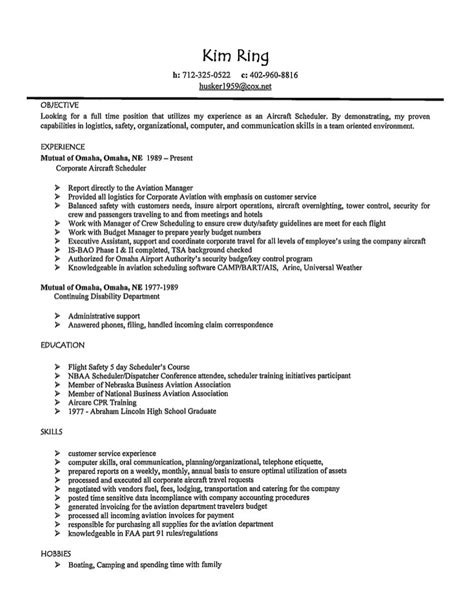 Writing An Aviation Resume