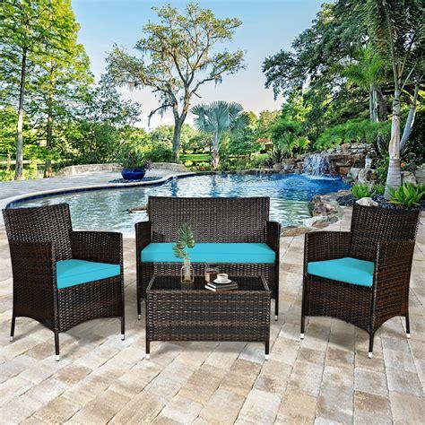 Backyard deck furniture Image