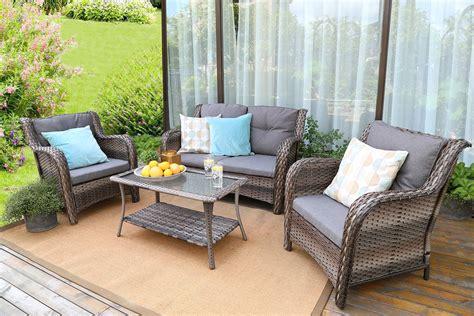 Backyard patio furniture Image