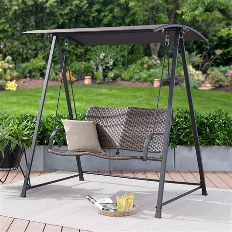 Backyard swing with canopy Image