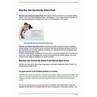 Bad boy sex secrets by allana pratt is it real?