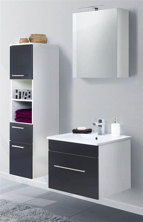 Badezimmer Hochschrank Schwarz