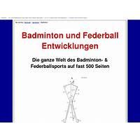 Compare badminton, federball entwicklungen und technik