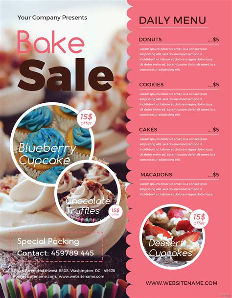 Bake Sale Flyer Templates CV Templates Download Free CV Templates [optimizareseo.online]
