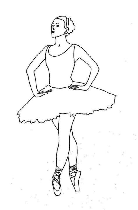 Ballerina Tänzerin Malvorlage