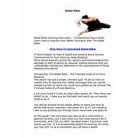 Ballet bible dancing instruction inexpensive
