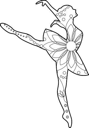 Balletttänzerin Malvorlage
