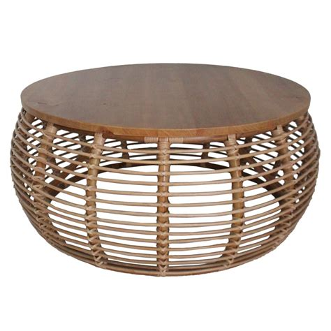 Bamboo Coffee Table Round Image