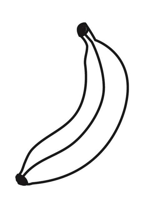 Banane Malvorlage