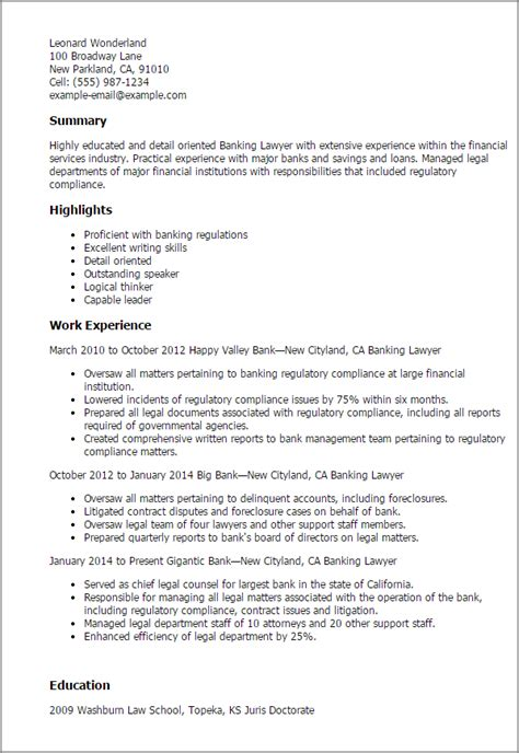 Banking Lawyer Resume Sample | Covering Letter For Cv Sample Pdf
