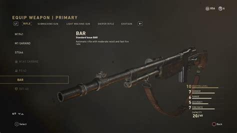 Bar Assault Rifle Cod Ww2
