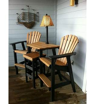 Bar Height Adirondack Chair And Table Plans