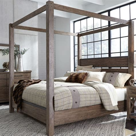 Barks Queen Canopy Bed