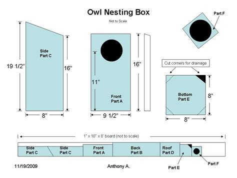 Barn owl nesting box plans Image
