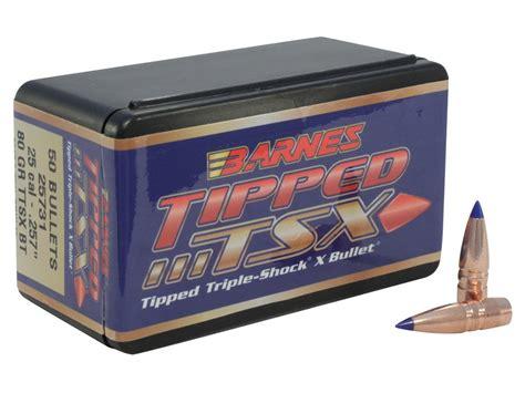 Barnes Tipped Tripleshock X Ttsx Bullets 25 Cal 257