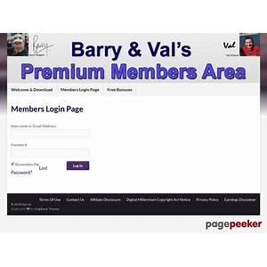 Barval ? premium members area online coupon