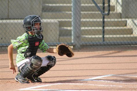 Baseball Catching Receiving Low Pitch