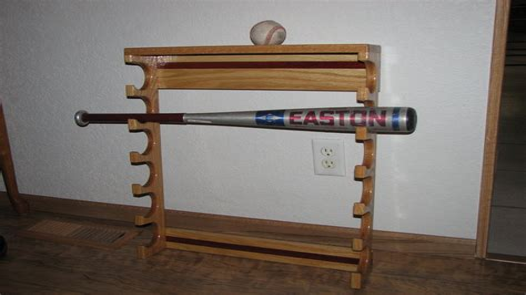 Baseball bat rack woodworking plans Image