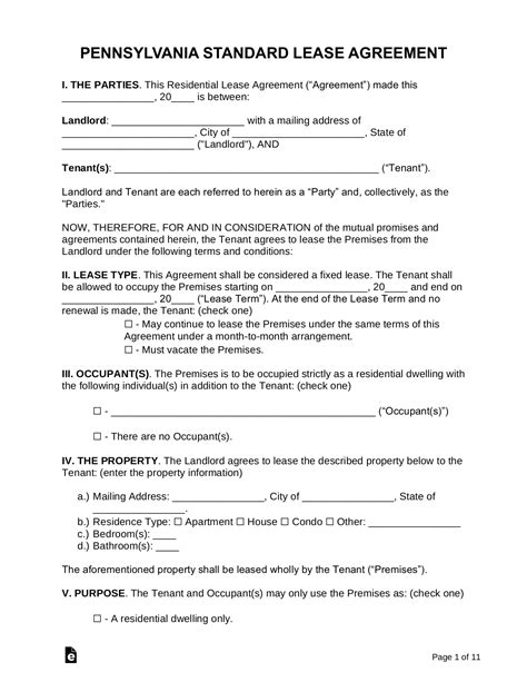 Basic Rental Agreement Spanish Elementary Music Teacher