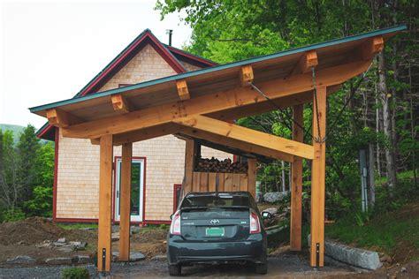 Basic design for a wood carport Image