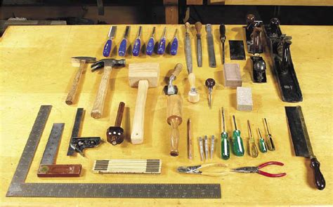 Basic set of tools for the woodworking beginner Image