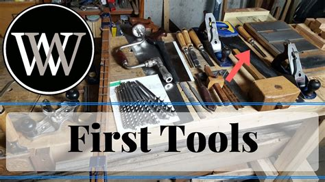 Basic tools for a hand tool woodworking shop starter tool set for the workshop Image